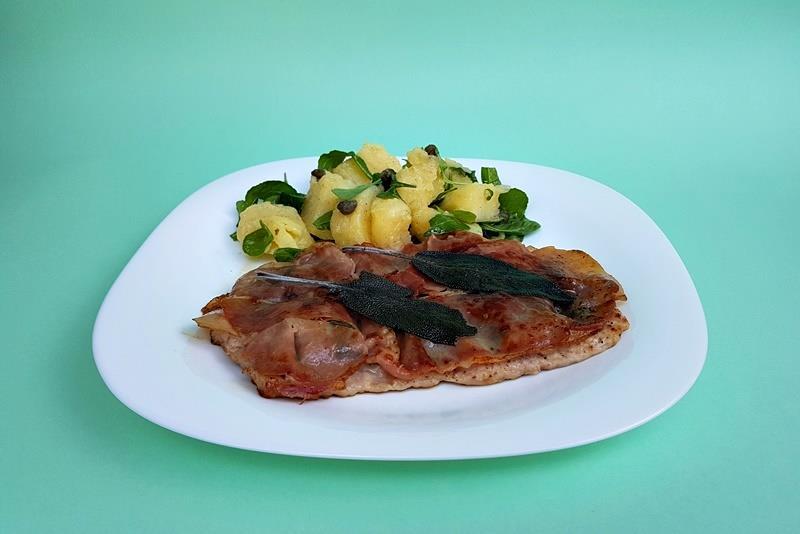 Hrono ručak: Saltimboka i topla salata od krompira i rukole