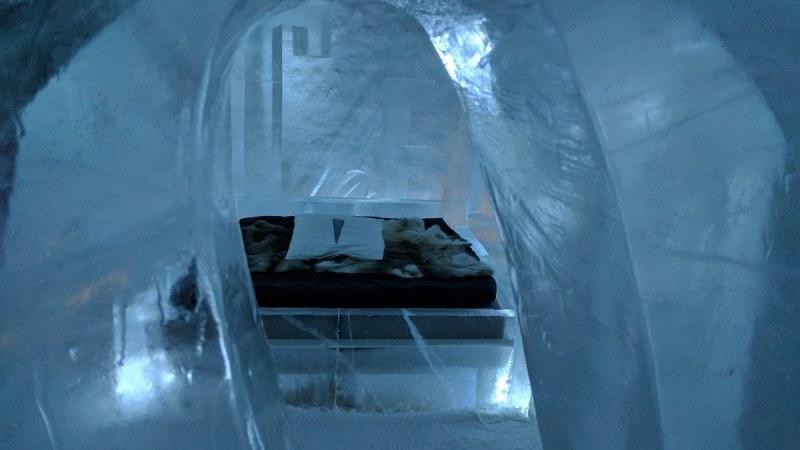 ledeni hotel arktik spavaca soba