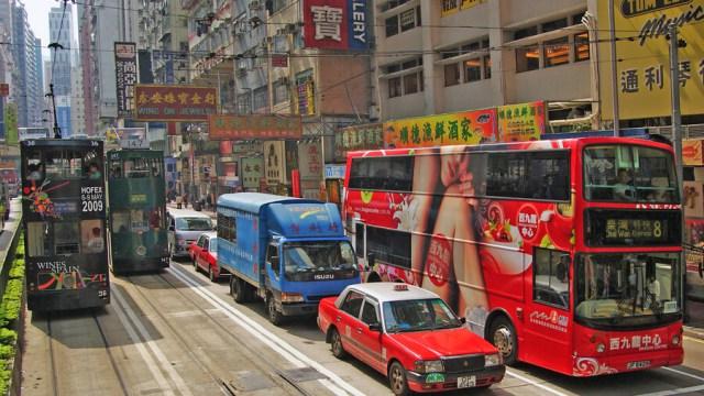 saobracaj hong kong Foto Bernard Spragg