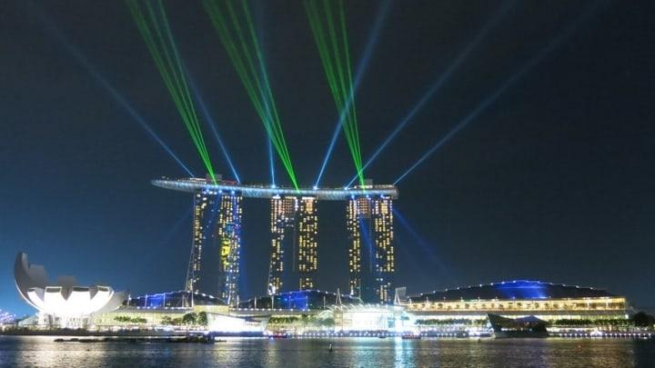 Sands hotel, Marina Bej, Singapur presedanje foto Trip Blog Post