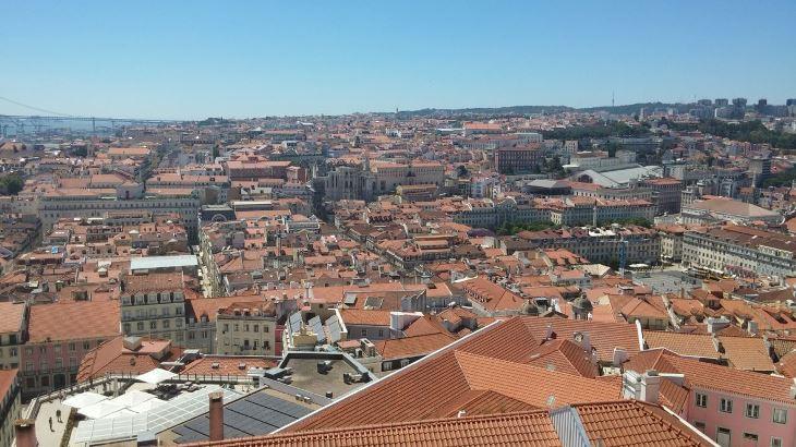 São Jorge Castle pogled sa zidina Lisabon Foto: Dejan Jeftić