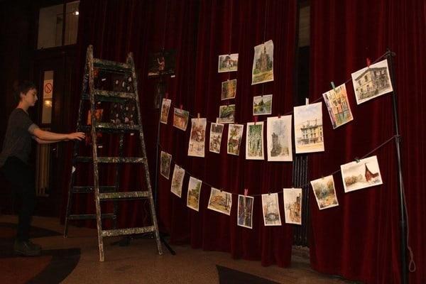 Izložba radova umetničke grupe Peta128 u kafe baru SBŠ