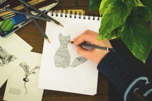 crtanje, crtez, izlozba crteza foto pexels